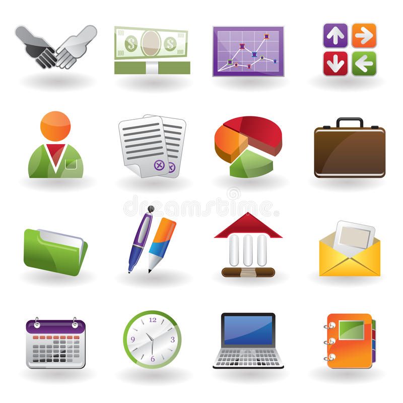 Business and office icon stock illustration