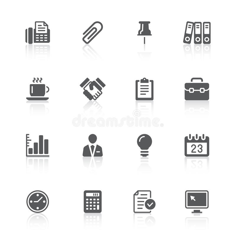 Download Business & office icons stock vector. Illustration of bulb - 23423817
