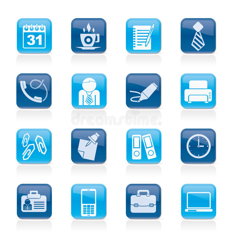 Download Business and office icons stock vector. Image of phone - 27293542