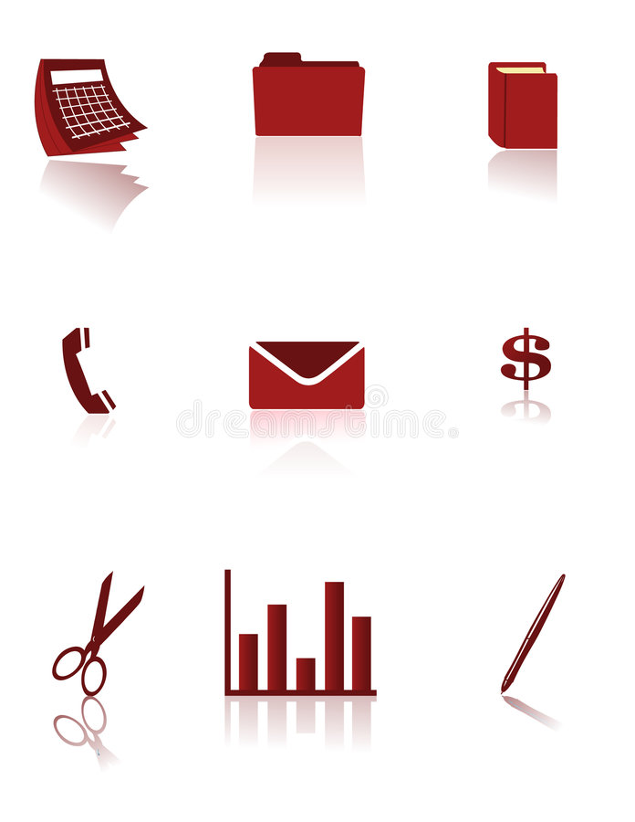 Download Business and Office icons stock illustration. Image of money - 5721934