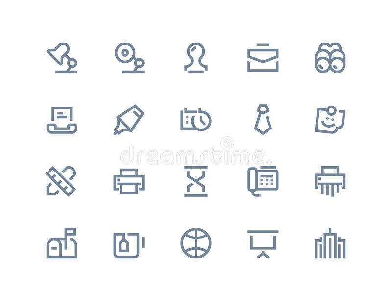 Business and office icons. Line series. Business and office icons. set Line series vector illustration