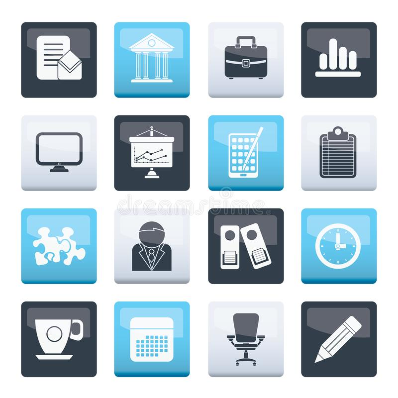 Business and office icons over color background. Vector icon set vector illustration