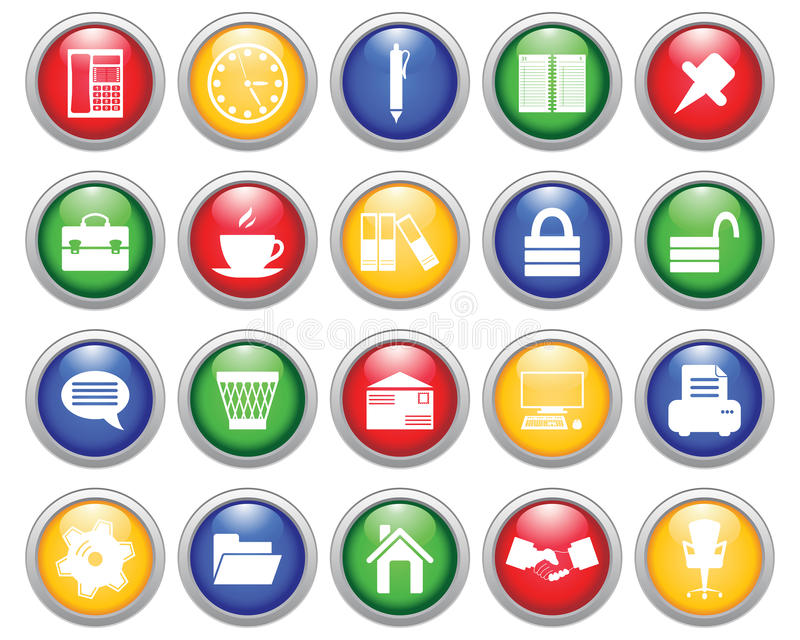Download Business And Office Icons Set Stock Image - Image: 11593891
