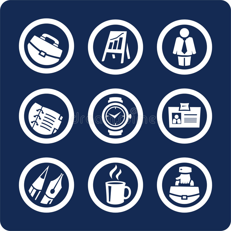 Business and Office icons (set 5, part 1). Business and Office 9 icons (set 5, part 1