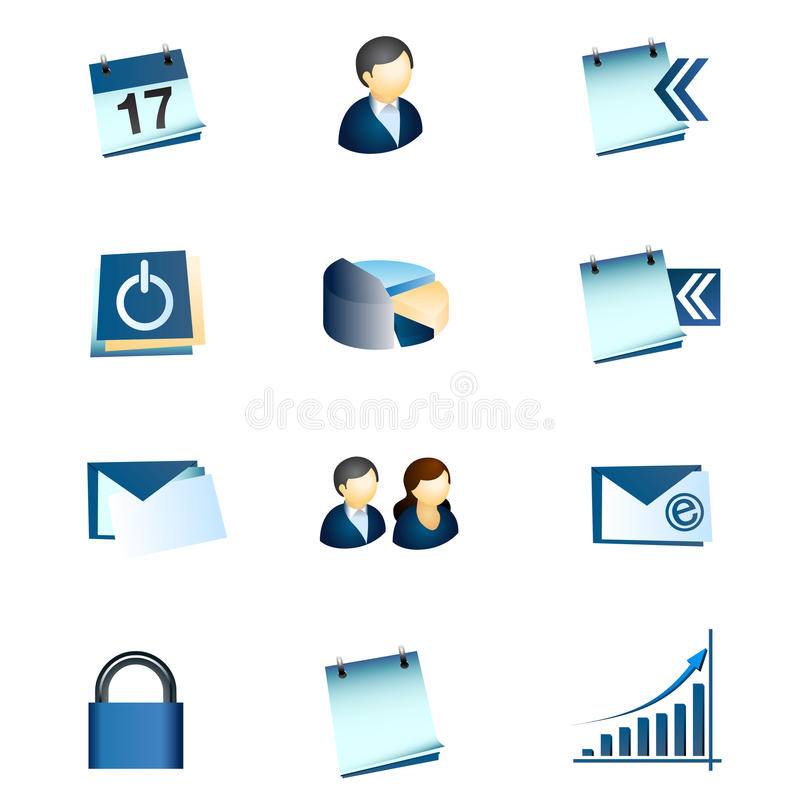 Business Office Internet Icons #1 Royalty Free Stock Photo