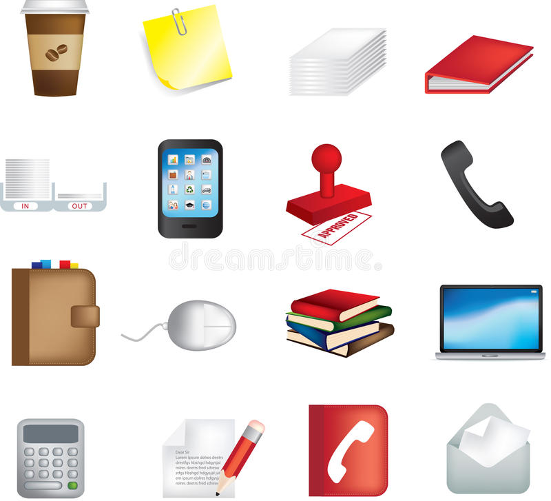 Download Business office items icon stock vector. Illustration of laptop - 12448325