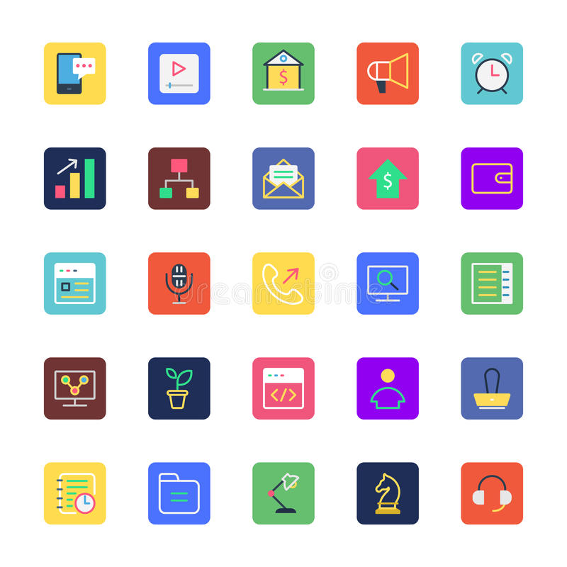 Business, Office and Marketing Colored Vector Icons 3. Here is Business, Office and Marketing Vector Icons pack. When you're creating graphics for a royalty free illustration