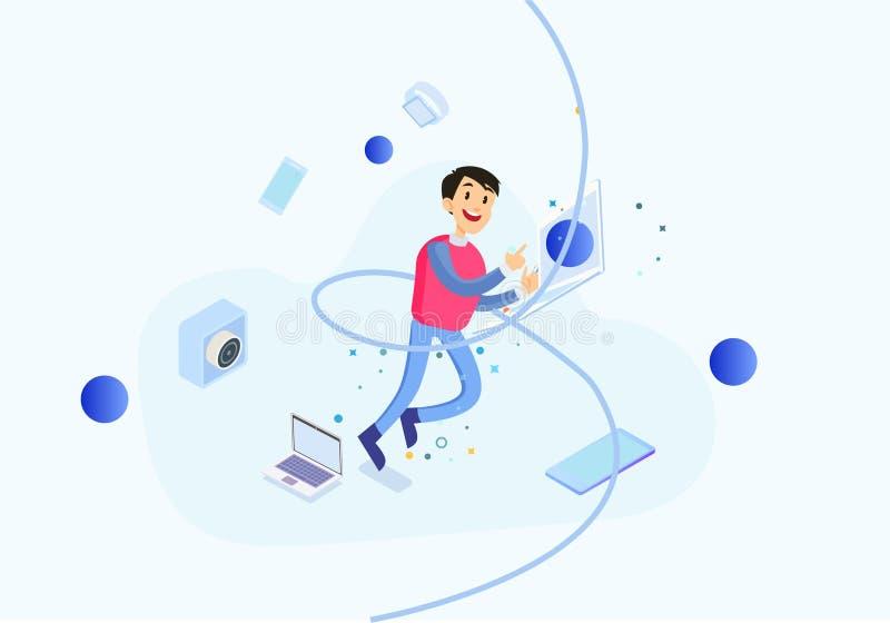 Business office for men workplace illustration stock illustration