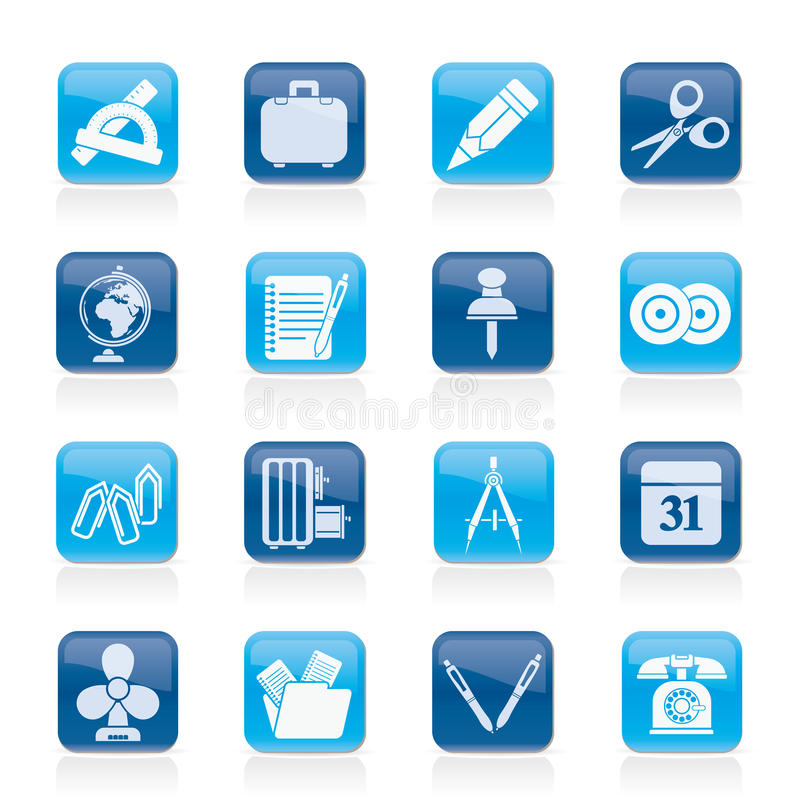 Download Business And Office Objects Icons Royalty Free Stock Photography - Image: 26228677