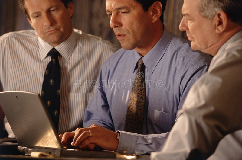 Business office professionals stock image