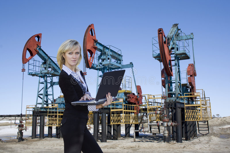 Business in oil industry. Management and control stock photos