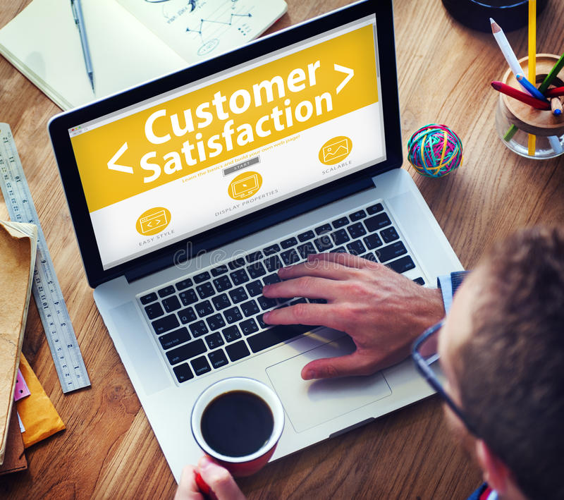Business Online Customer Satisfaction Working Concept stock images