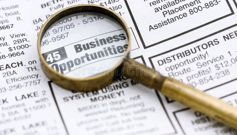Business opportunities royalty free stock photos