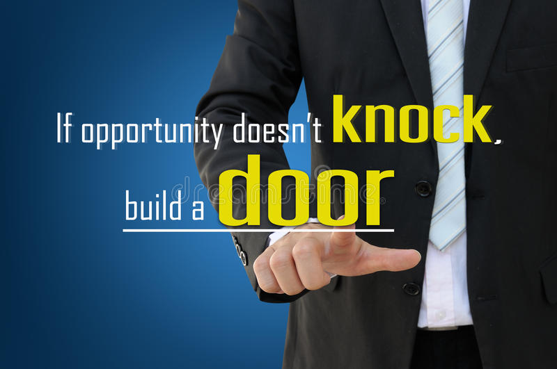 Business opportunity concept stock photo