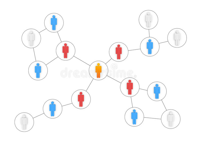 Business Organization royalty free illustration