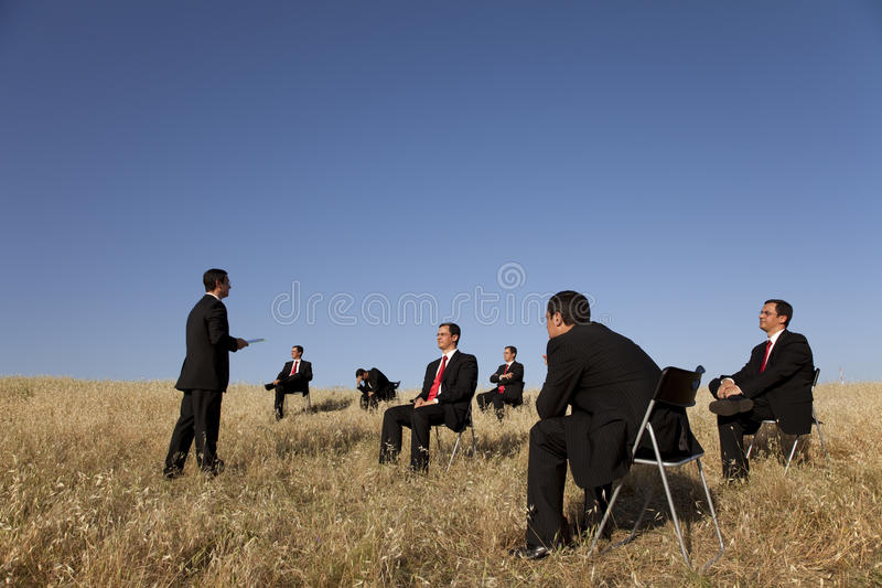 Business outdoor training royalty free stock photos