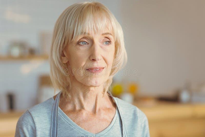Portrait of a smart elderly woman stock photo