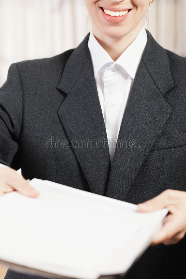 Download Business Paper Files In Hand Stock Photo - Image: 20171402