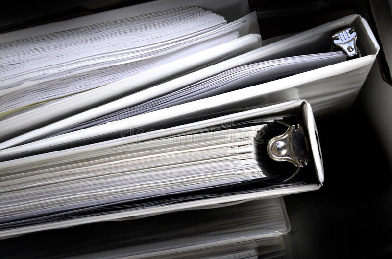 Download Business Papers Binder Files Stock Image - Image: 25483899