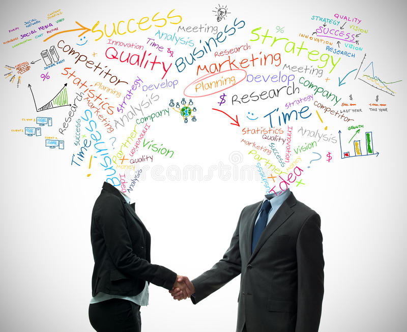 Business partner concept royalty free stock photo