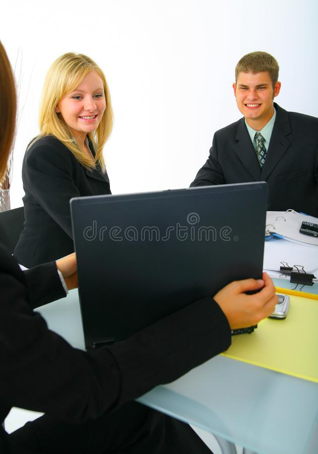 Business Partner Looking On Laptop royalty free stock photos