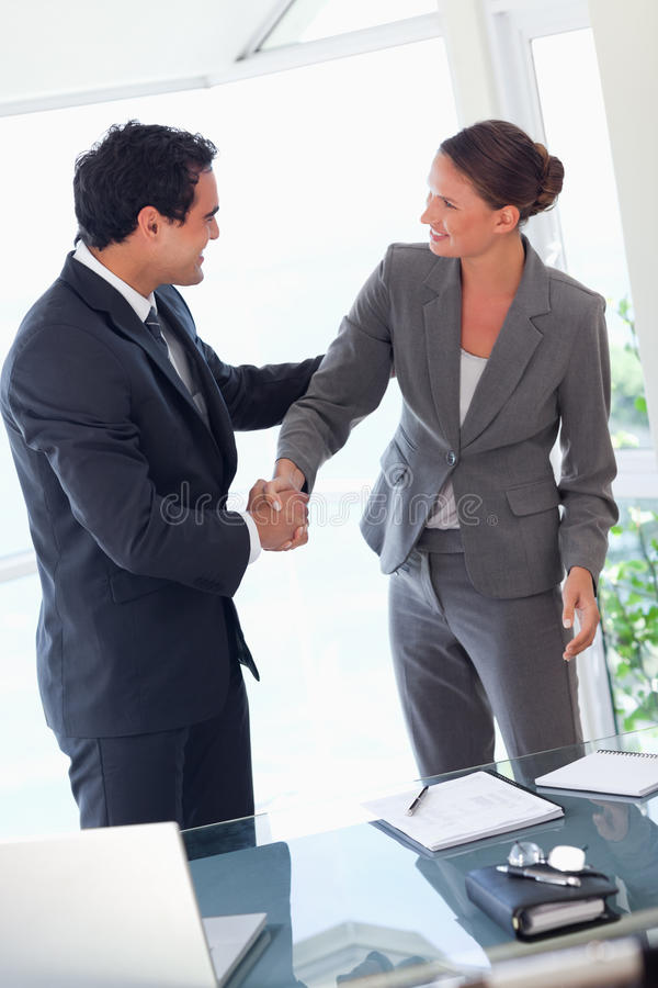 Download Business Partner Shaking Hands After Closing A Deal Stock Image - Image of business, contract: 22220739