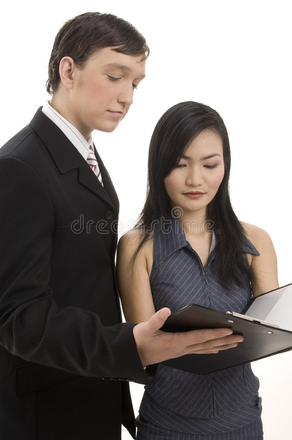 Download Business Partners 1 stock image. Image of pair, clipboard - 254579