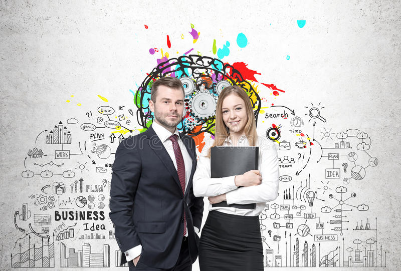 Business partners and business idea royalty free stock photo