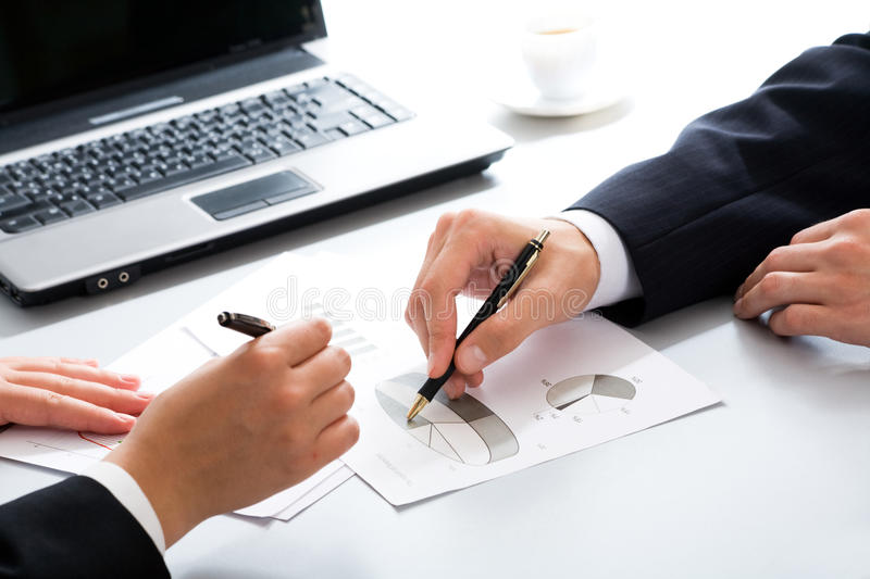Business partners hands royalty free stock image
