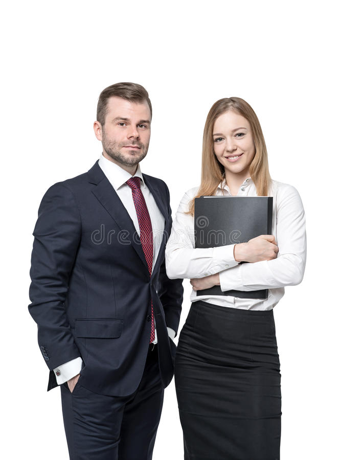 Business partners isolated royalty free stock image
