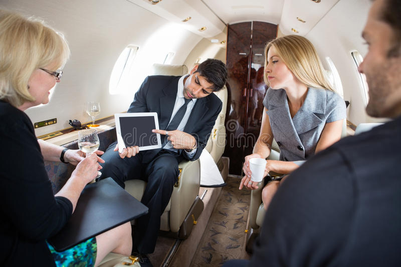 Business Partners Meeting In Private Plane