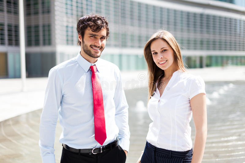 Business partners. Business people in an urban environment royalty free stock photography