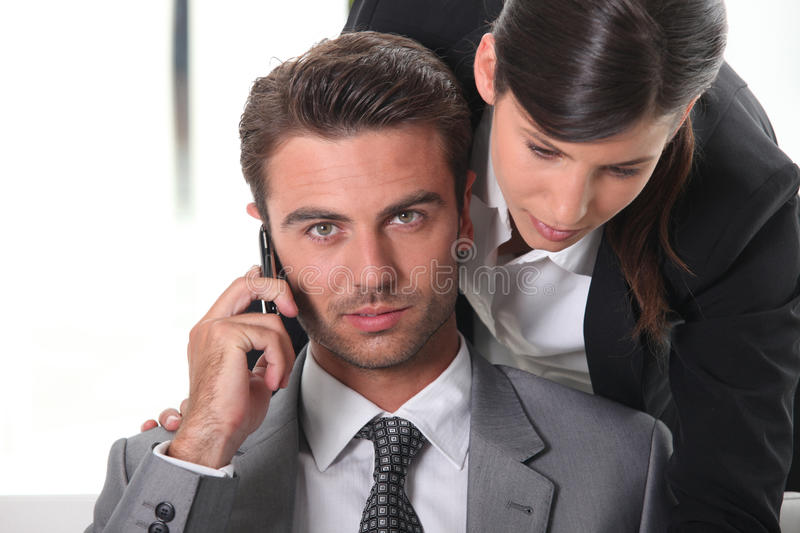 Download Business partners at work stock image. Image of commerce - 23097949