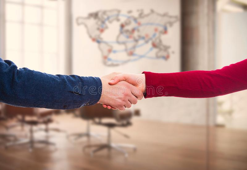 Business partnership and collaboration stock photo