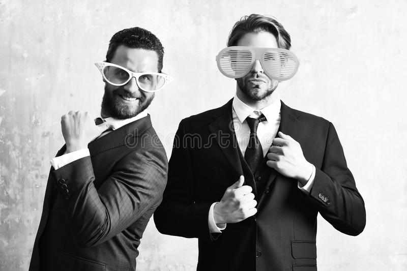 Business partnership concept . Business workers having corporate party stock image