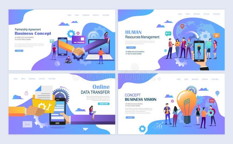 Business partnership concept stock illustration