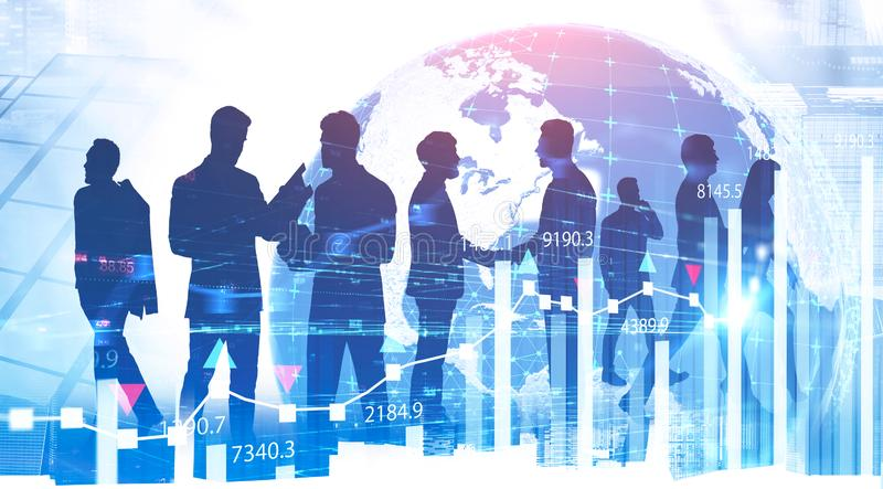 Business partnership and financial markets stock photo