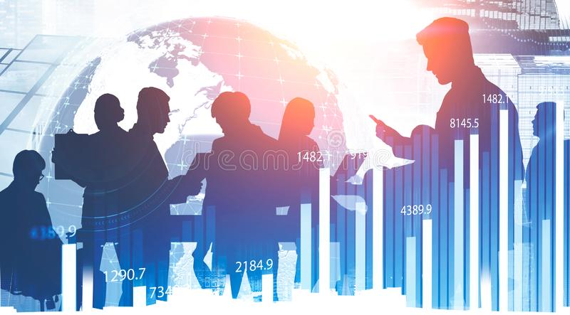 Business partnership and globalization concept stock images