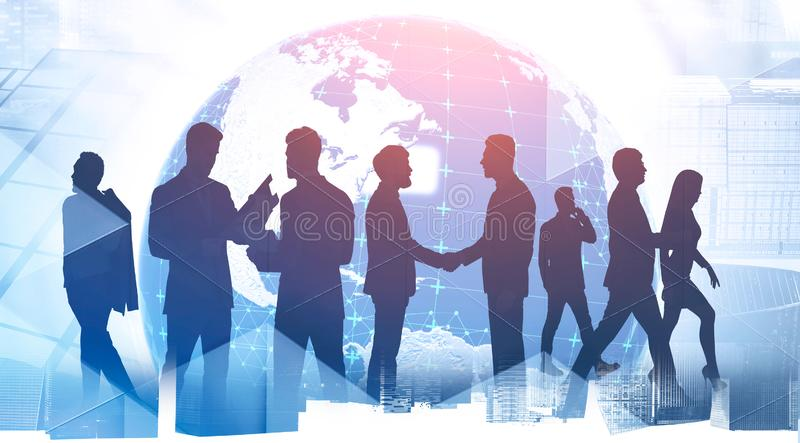 Business partnership and globalization concept stock photography