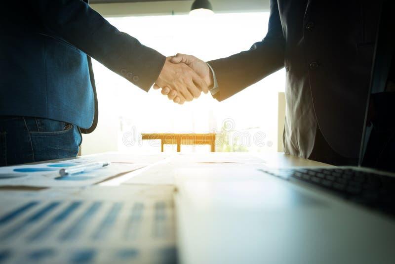 Business partnership meeting concept. Image businessmans handshake. Successful businessmen handshaking after good deal. royalty free stock photos