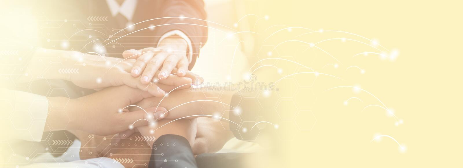 Business partnership meeting concept. Successful businessmen handshaking stock image