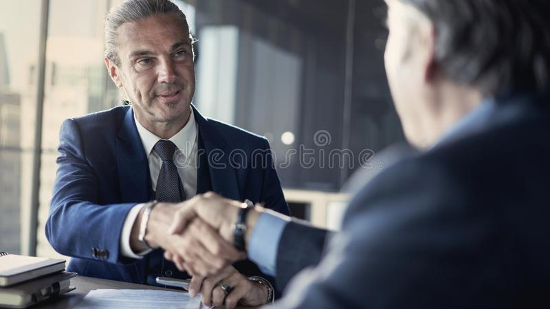 Business partnership meeting in office. Business partnership meeting in  office stock photo
