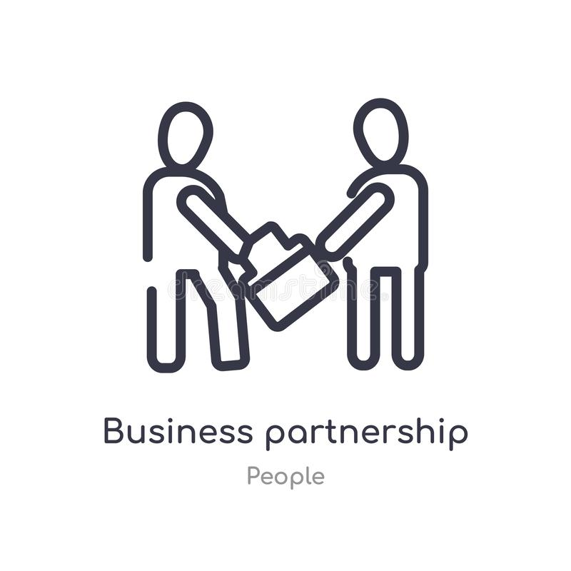 business partnership outline icon. isolated line vector illustration from people collection. editable thin stroke business vector illustration