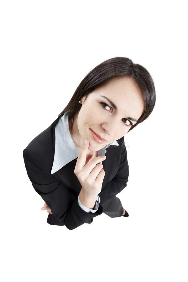 business pensive woman στοκ φωτογραφία με δικαίωμα ελεύθερης χρήσης