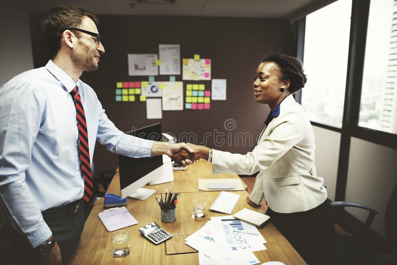 Business Peope Handshake Greeting Deal Concept.  stock photography