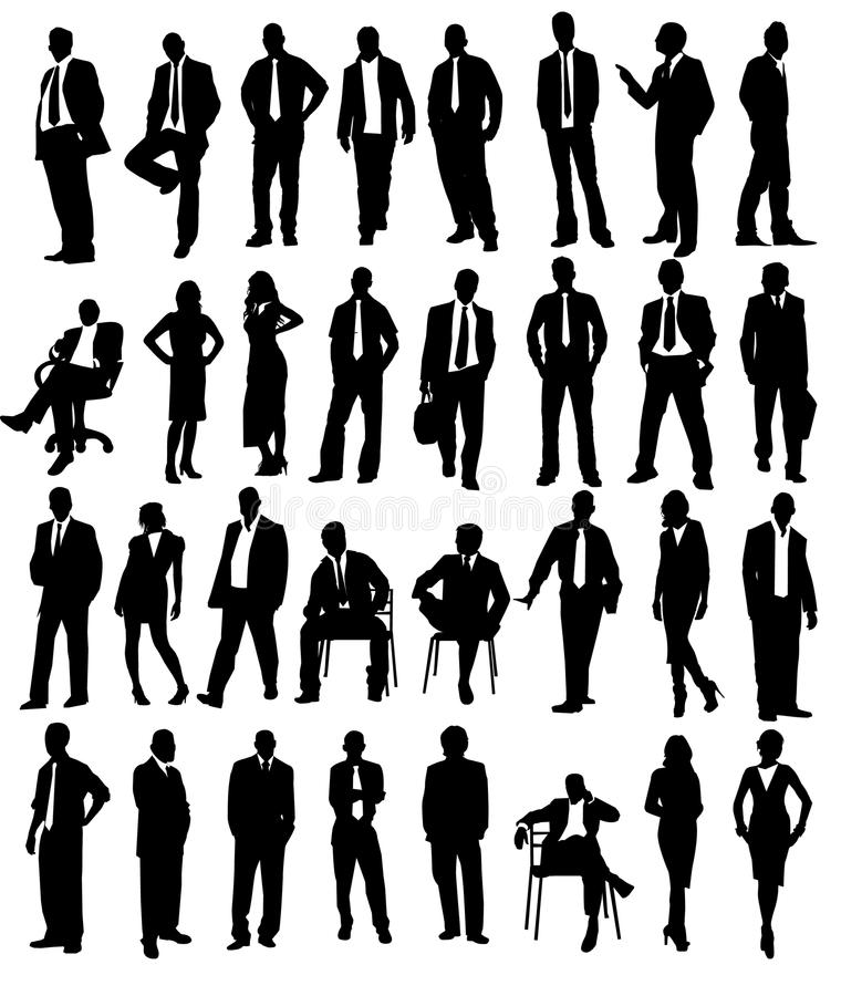 Business people. Illustration background vector
