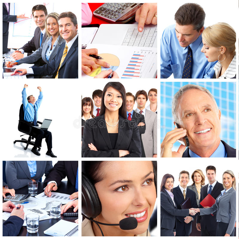 Business people. Smiling business people team working in the office stock photo