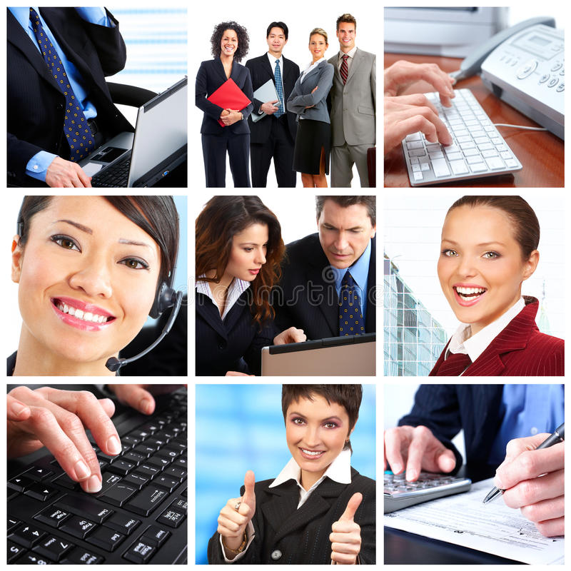 Business people. Businessmen and business women stock photo