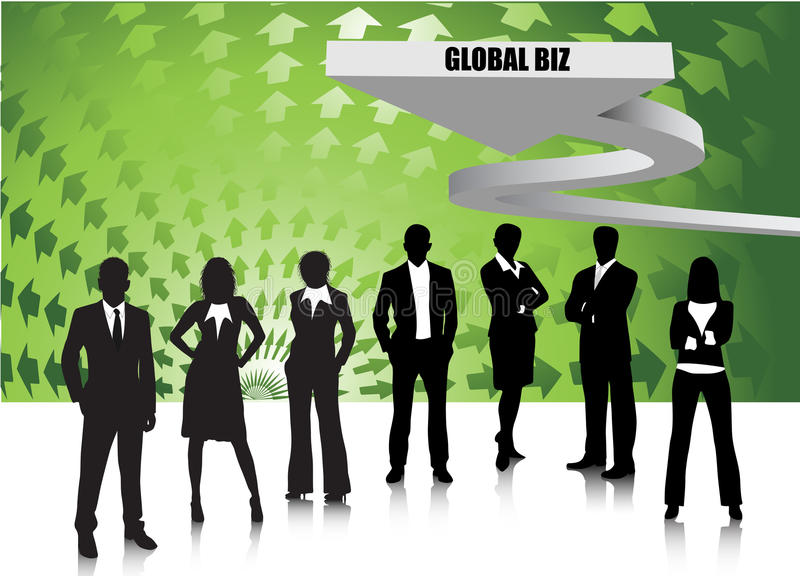 Business people. Illustration of business team.Very useful business concept royalty free illustration