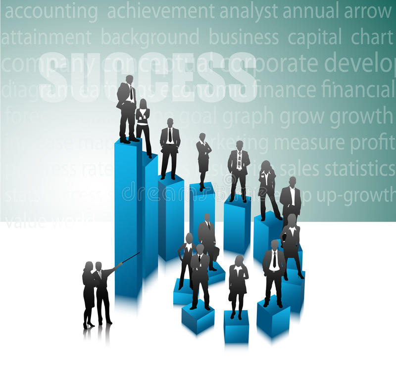 Business people. Illustration of business team.Very useful business concept stock illustration